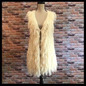 Freeway Boho Shaggy Long Vest